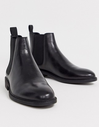 Office mannage chelsea boots in black leather