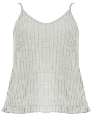Dorothy Perkins Womens Grey Ribbed Camisole Top, Grey