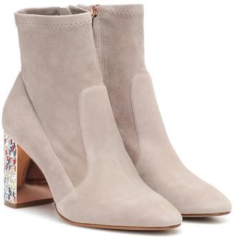 Sophia Webster Toni embellished suede ankle boot