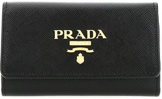 Prada Logo Key Ring Case