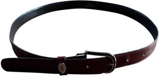 Saint Laurent Burgundy Leather Belts