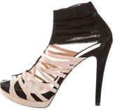 Fendi Suede Multi-Strap Sandals
