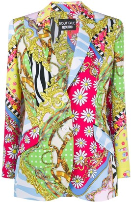Boutique Moschino Fantasy-print single breasted blazer