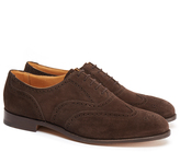 Tricker's Dark Brown Suede Full Brogues