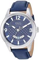 ESQ Men's Stainless Steel Watch w/ Leather Strap FE/0083
