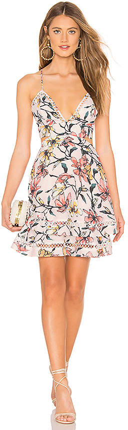 Aijek Gabriella Floral Mini Dress