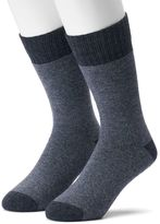 Croft & Barrow Men's 2-pack Wool-Blend Cold-Weather Crew Boot Socks