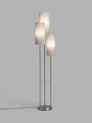 John Lewis & Partners Cluster Trio Floor Lamp, Brushed Steel