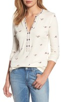 Lucky Brand Women's Floral Print Top