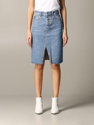 Liu Jo High-waisted Denim Skirt