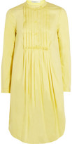 Carven Pleated cotton-twill shirt dress