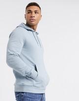 Asos Design DESIGN organic hoodie in light blue