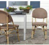 Safavieh Rural Woven Dining Barrow Brown Indoor Outdoor Stackable Side Chairs (Set of 2)