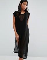 Evil Twin Mesh High Leg Midi Beach Dress