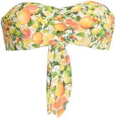 Stella McCartney Citrus-print bandeau bikini top
