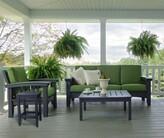Oasis 4 Piece Sunbrella Sofa Set with Cushions Hershy Way Fabric: Dolce