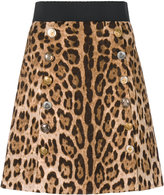 Dolce & Gabbana mini brocade leo skirt