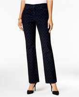 Charter Club Petite Lexington Flocked Straight-Leg Jeans, Only at Macy's