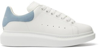 Alexander McQueen Overized Raised-sole Leather Trainers - Blue White