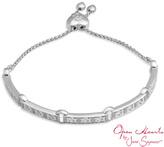 """Zales Open Hearts by Jane SeymourTM Diamond Accent Bolo Bracelet in Sterling Silver - 9.25"""""""