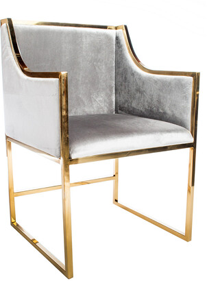 Statements By J Erin Gold Dining Chair Gold/Gray