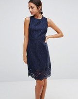 Warehouse Sleeveless Lace Dress