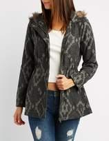 Charlotte Russe Faux Fur-Trim Hooded Jacket