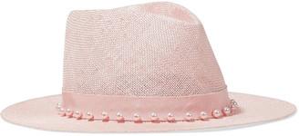 Eugenia Kim Blaine Faux Pearl-embellished Woven Sisal Panama Hat