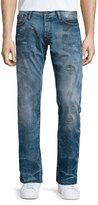PRPS Barracuda Distressed & Faded Denim Jeans, Blue