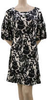 Max Studio Printed Silk Lantern Sleeve Dress
