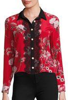 The Kooples Floral-Print Silk Crepe De Chine Shirt