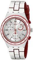 Swatch Unisex YCS1012 Irony Analog Display Swiss Quartz White Watch