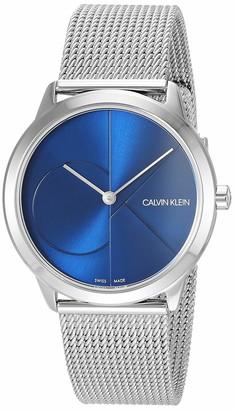 Calvin Klein Unisex Minimal Watch - K3M2212N Blue/Silver One Size