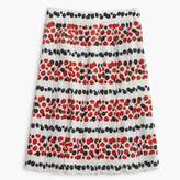 J.Crew Pleated skirt in berry print