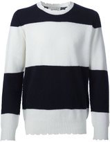 Pringle distressed striped jumper