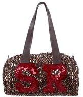 Sonia Rykiel Sequin-Embellished Satin Tote