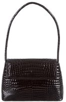 Saks Fifth Avenue Crocodile Top Flap Shoulder Bag