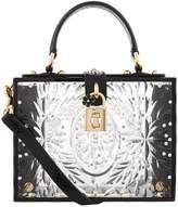 Dolce & Gabbana Plexiglass Padlock Top Handle Bag