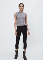 Ann Demeulemeester lightlaine black / geza black cropped raw hem trouser