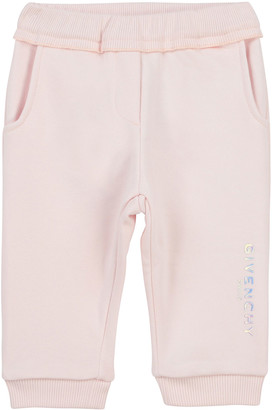 Givenchy Girl's Foiled Logo Cotton-Blend Jogger Pants, Size 12M-3