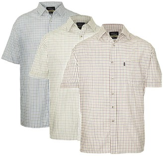 Champion Mens Country Style Casual Short Sleeved Shirts 3 Pack 3XL