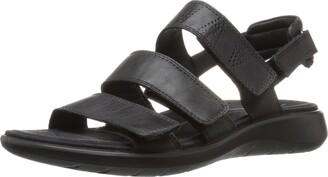 Ecco Women's Soft 5 3-Strap Flat Sandal