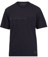 Prada Crew-neck Wool-panel Cotton T-shirt