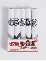M&s Collection 5 Pack Star WarsTM Handkerchiefs with Sanitized Finish®