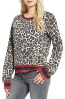 Pam & Gela Women's Leopard Print Sweatshirt