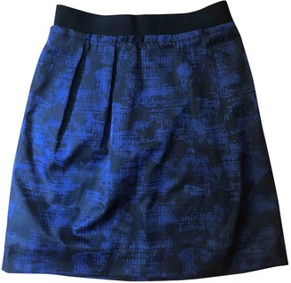 Cos Blue Silk Skirt for Women