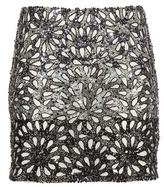 Alice + Olivia Elana embellished miniskirt