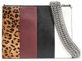 Alexander Wang Calf Hair-paneled Color-block Leather Clutch
