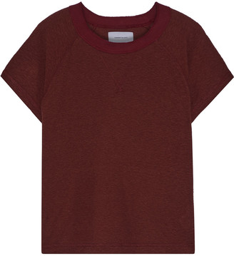 Current/Elliott The Raglan Melange Ribbed Jersey T-shirt