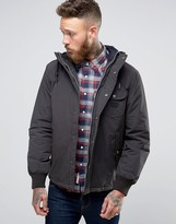 Lee Short Hooded Parka Coat Washed Black